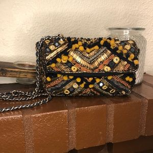 Zara Basic Collection Mirrored Chain Crossbody